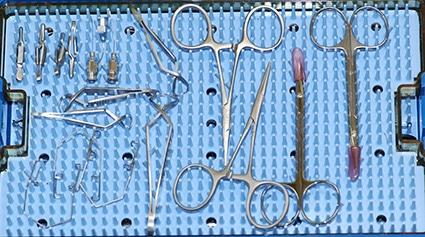 Instruments chirurgie ophtalmique, oculaire, cataracte, greffe de conjonctive, paupières, enucleation, chien, chat