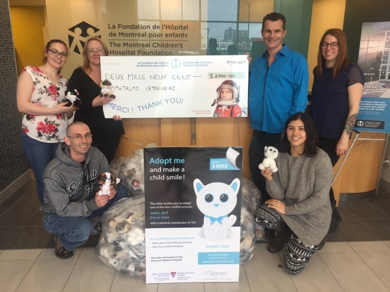Stuffed animals project for the Montreal Children's hospital foundation 2017